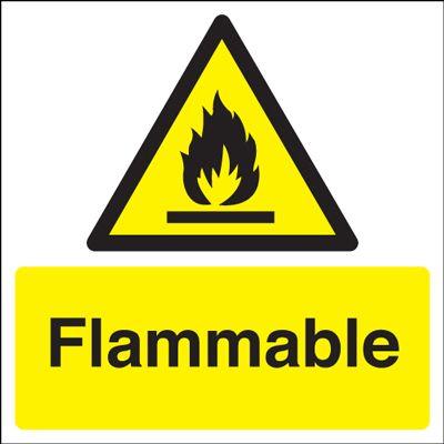 Flammable Hazard Safety Sign Blitz Media