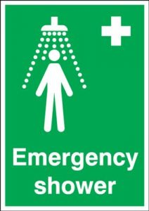 Emergency Shower First Aid Safety Sign