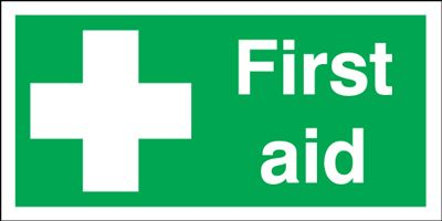 First Aid Safety Signs - Landscape