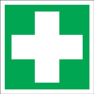 First Aid Signs - Square - Cross Only