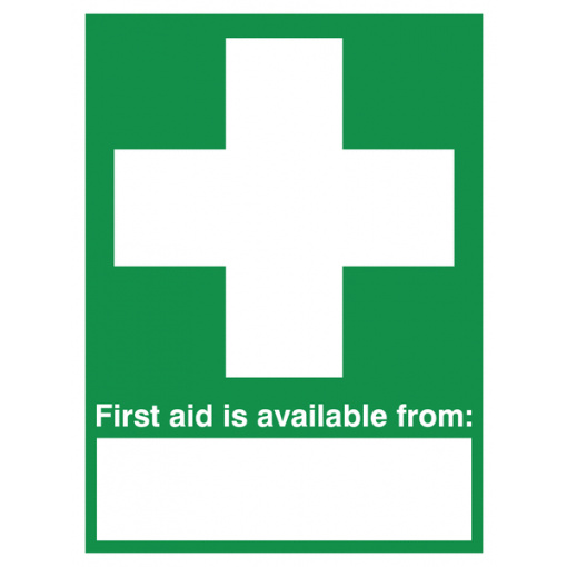 "First Aid Is Available From "" "" - Portrait"