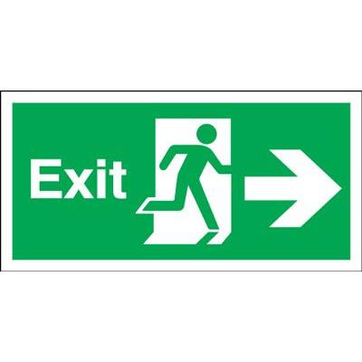 150x450mm Exit (Symbol) Arrow Right Rigid