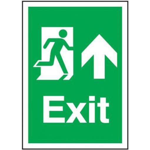 Arrow Up Fire Exit Safety Sign - Portrait