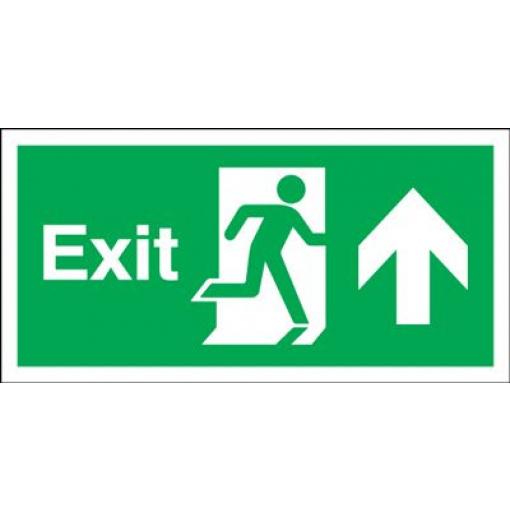 150x450mm Exit (Symbol) Arrow Up Rigid