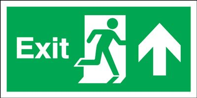 150x450mm Exit (Symbol) Arrow Up Rigid