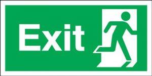 150x450mm Exit (Symbol on Right) Rigid