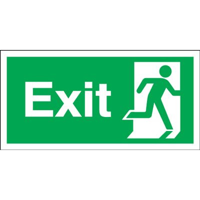 150x450mm Exit (Symbol on Right) Rigid