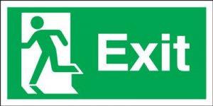 150x450mm Exit (Symbol on Left) Rigid