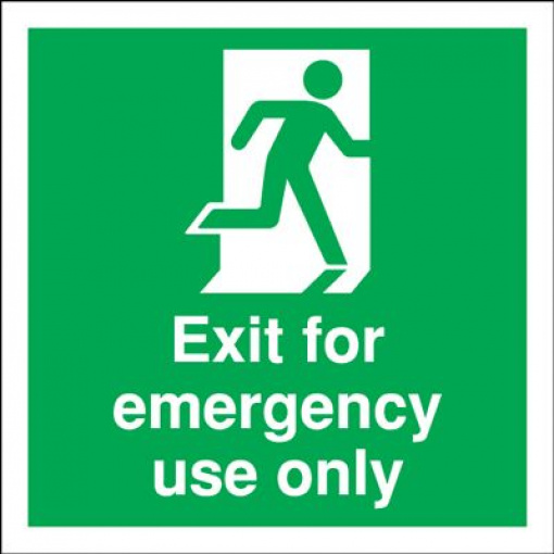 Exit For Emergency Use Only Fire Safety Sign