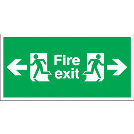 Arrow Left & Right Fire Exit Safety Sign - Landscape