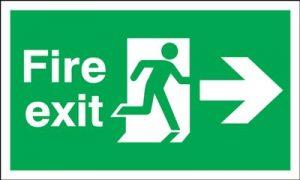 150x450mm Fire Exit (Symbol) Arrow Right