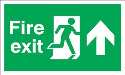 150x450mm Fire Exit (Symbol) Arrow Up
