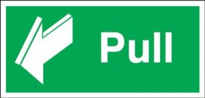 Pull Safety Sign - Landscape