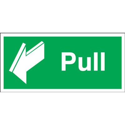 Pull Safety Sign - Landscape
