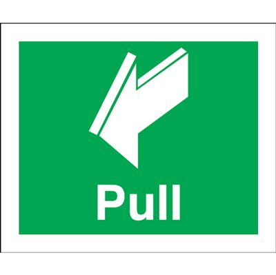 Pull Safety Sign - Portrait