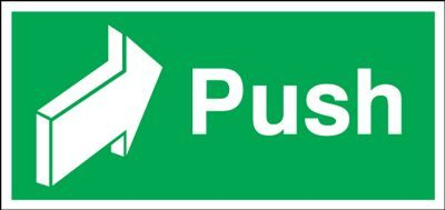 Push Safety Sign - Landscape