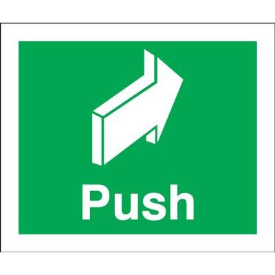 Push Safety Sign - Portrait