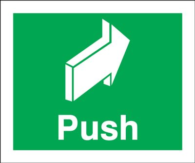 Push Safety Sign - Portrait