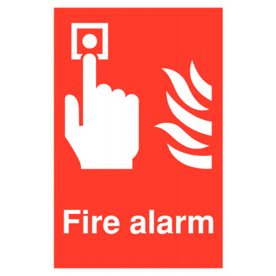 Fire Alarm Safety Sign - Portrait