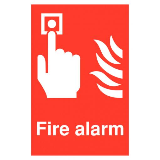 Fire Alarm Safety Sign - Portrait