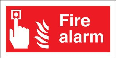 Fire Alarm Safety Sign - Landscape