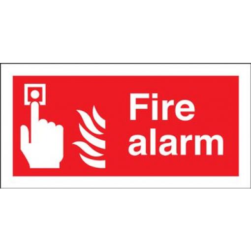 Fire Alarm Safety Sign - Landscape