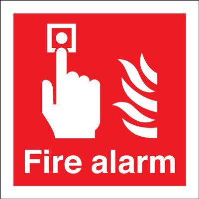 Fire Alarm Safety Sign - Square