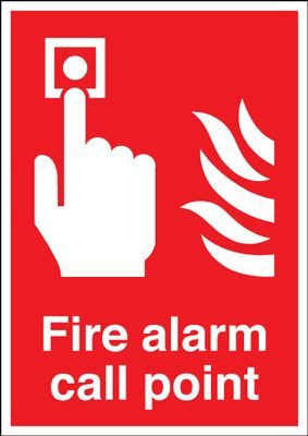 Fire Alarm Call Point Safety Sign - Portrait