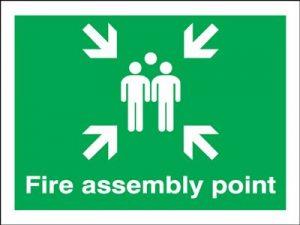 Fire Assembly Point Safety Sign - Landscape