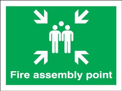 Fire Assembly Point Safety Sign - Landscape