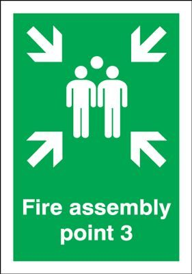 Point 3 Fire Assembly Safety Sign