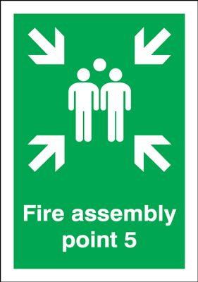 Point 5 Fire Assembly Safety Sign
