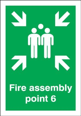 Point 6 Fire Assembly Safety Sign