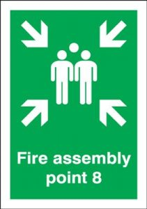 Point 8 Fire Assembly Safety Sign
