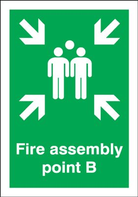 Point B - Fire Assembly Safety Sign