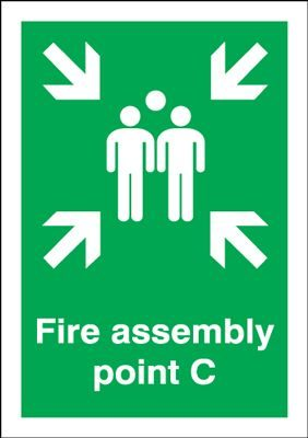 Point C - Fire Assembly Safety Sign