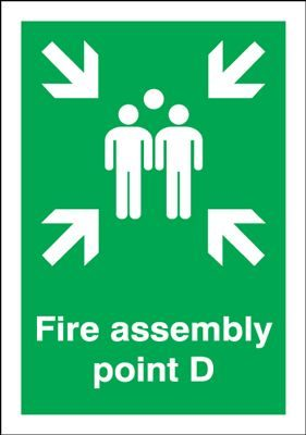 Point D - Fire Assembly Safety Sign