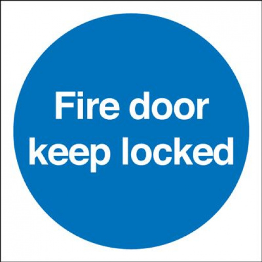 Fire Door Keep Locked Mandatory Safety Sign - Square