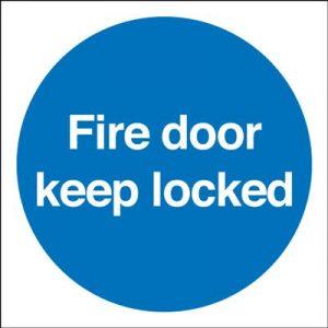 Fire Door Keep Shut Mandatory Safety Sign