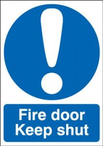 Fire Door Keep Shut Mandatory Safety Sign - Portrait