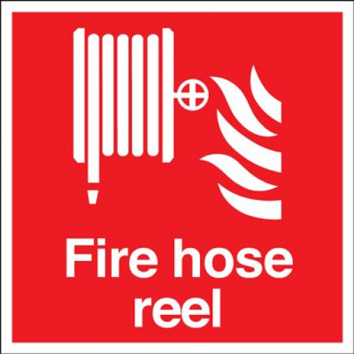 Fire Hose Reel Equipment Safety Sign