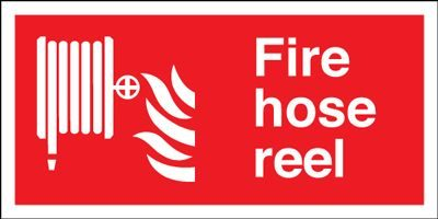Fire Hose Reel Equipment Safety Sign - Landscape