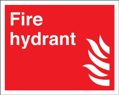 Fire Hydrant Equipment Safety Sign - Landscape