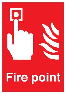 Fire Point Equipment Safety Sign - Portrait