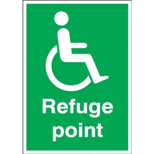 Refuge Point Safety Sign