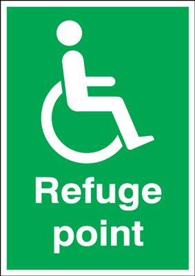 Refuge Point Safety Sign
