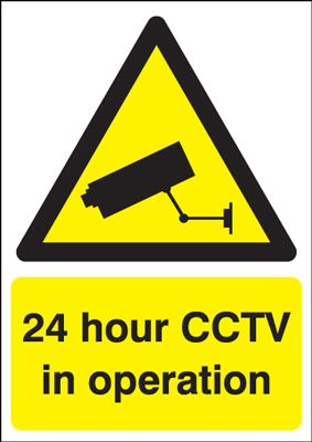 24 Hour CCTV in Operation Security Safety Sign - Portrait