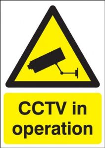 CCTV In Operation Security Safety Sign - Portrait