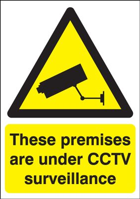 Premises Are Under CCTV Surveillance Security Sign - Portrait