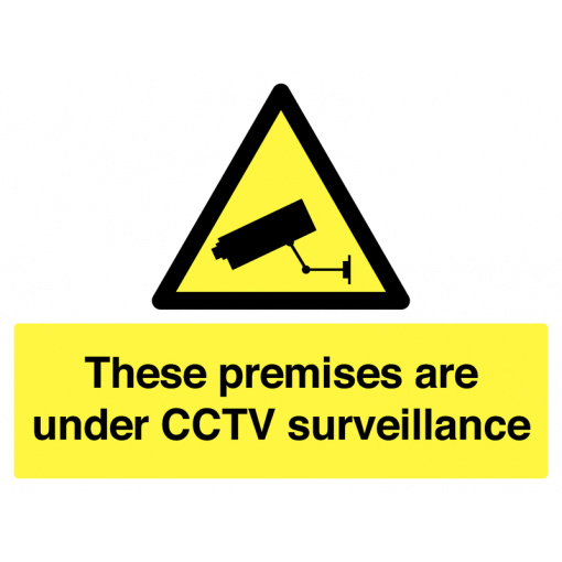 These Premises Are Under CCTV Surveillance Safety Sign